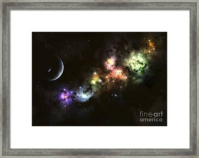 Artists Concept Of Planet Carenteen Framed Print by Kevin Lafin