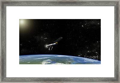 Artists Concept Of The Atlas V541 Framed Print by Stocktrek Images
