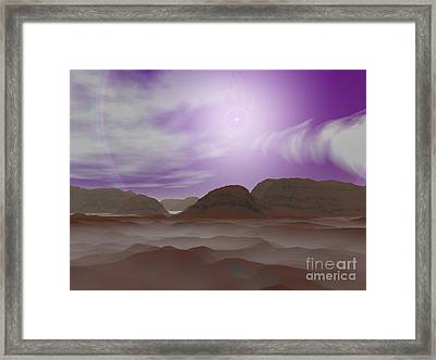 Artists Concept Of The Atmosphere Framed Print by Walter Myers