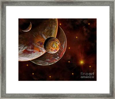 Artists Concept Of The Birth Place Framed Print by Mark Stevenson