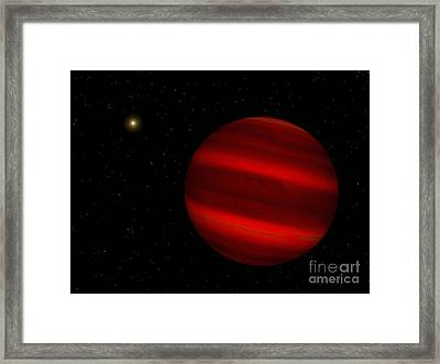 Artists Concept Of The Brown Dwarf Framed Print by Walter Myers