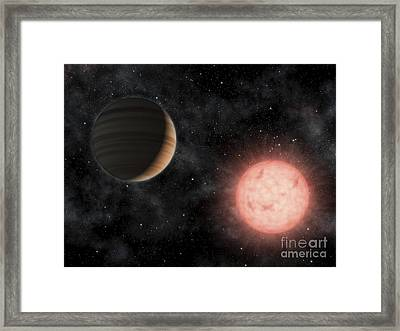 Artists Concept Of The Smallest Star Framed Print by Stocktrek Images