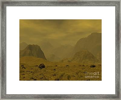 Artists Concept Of The Surface Of Venus Framed Print by Walter Myers