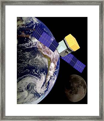 Artists Conception Of The Solar Powered Framed Print by Everett