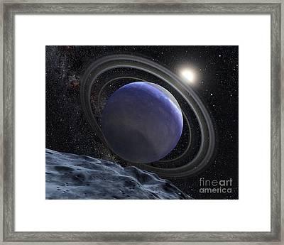 Artists Illustration Of An Extrasolar Framed Print by Stocktrek Images