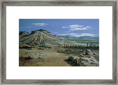 Artist's Impression Of Triassic Period Landscape. Framed Print by Ludek Pesek