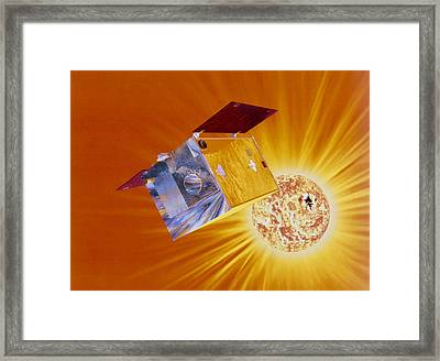Artist's Impression Of Yohkoh Satellite Framed Print