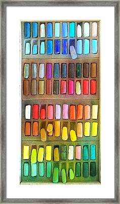 Artists Rainbow Framed Print by Francesa Miller
