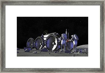 Artists Rendering Of Future Space Framed Print by Stocktrek Images