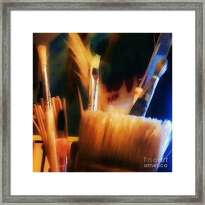 Artists Tools Framed Print by Isabella F Abbie Shores FRSA
