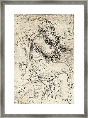 Artwork By Leonardo Da Vinci Framed Print by Sheila Terry