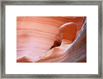 Artwork In Progress - Antelope Canyon Az Framed Print by Christine Till