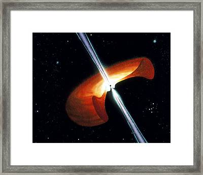 Artwork Showing A Mechanism For Gamma-ray Bursts Framed Print