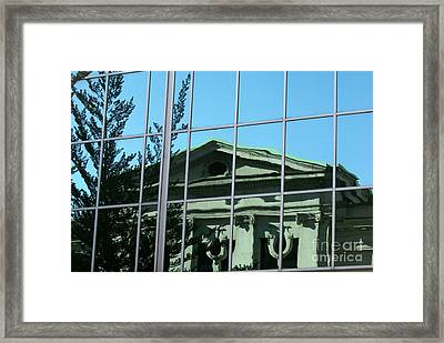 Framed Print featuring the photograph Arty Reflection Vancouver Canada by John  Mitchell