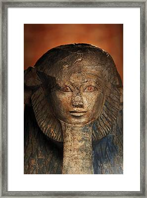As A Sphinx, Hatshepsut Displays Framed Print by Kenneth Garrett