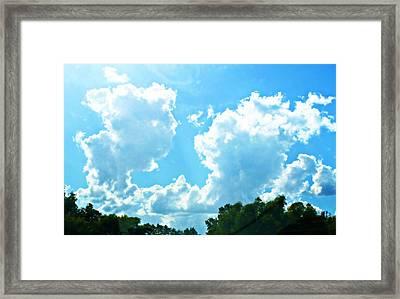 As Blue As The Sky Can Be Framed Print by Hannah Miller