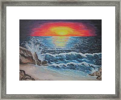 As Dawn Breaks Framed Print