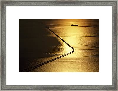 As Evening Yields Its Last Light Framed Print