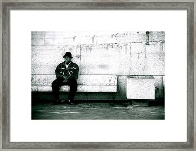 As Good A Place To Sit As Any Framed Print by Jez C Self