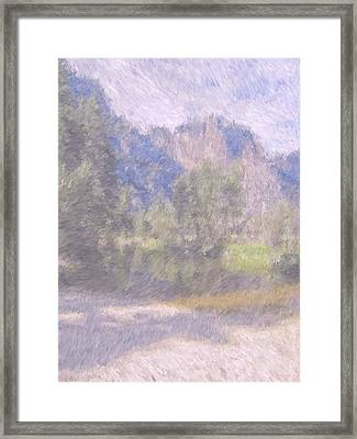 As If Monet Painted Yosemite Framed Print by Heidi Smith