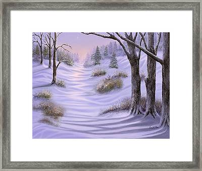 As Snow Falls Comes Silence Framed Print