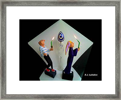 As The Parade Takes A Corner Framed Print