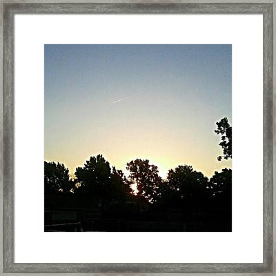 As The Sun Prepared To Rise.... #sky Framed Print by Kel Hill