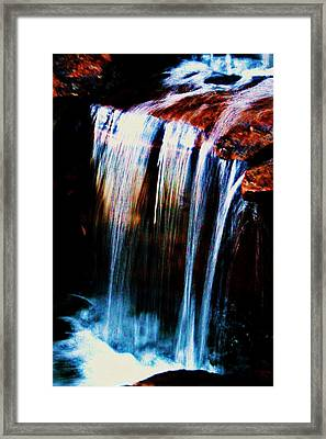 As The Water Falls Framed Print by Hannah Miller