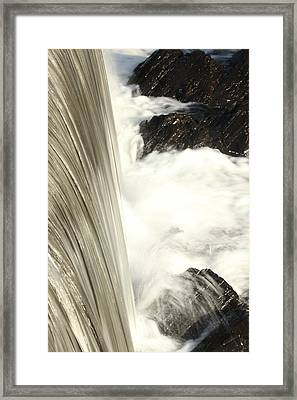 As The Water Falls Framed Print by Karol Livote