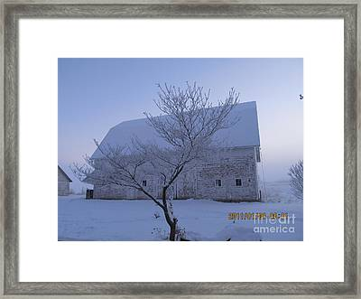 Framed Print featuring the photograph As White As Snow by Tina M Wenger