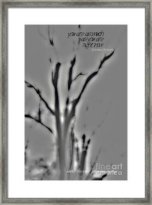 Framed Print featuring the photograph As You Are by Vicki Ferrari