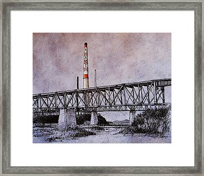 Asarco In Pen And Ink Framed Print by Candy Mayer