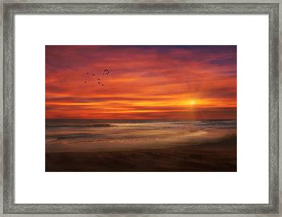 Asbury Park Sunset Framed Print by Tom York Images