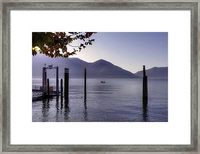 Ascona - Lago Maggiore Framed Print by Joana Kruse