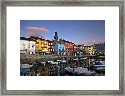 Ascona Am Abend Framed Print by Joana Kruse