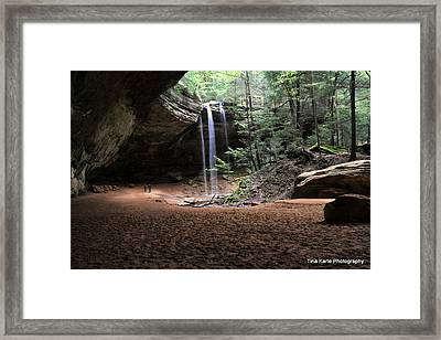 Ash Cave Framed Print by Tina Karle