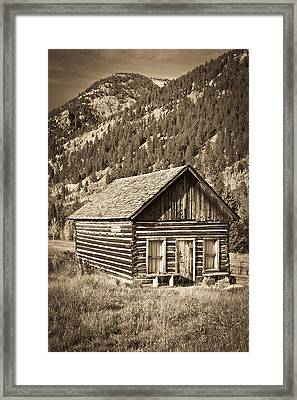 Ashcroft Ghost Town Framed Print by Adam Pender