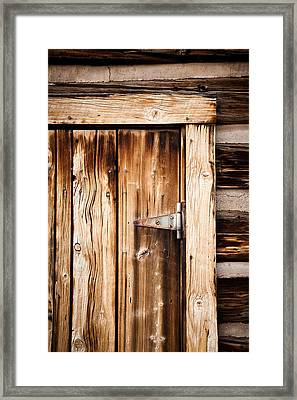 Ashcroft Ghost Town Door  Framed Print