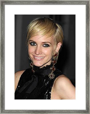 Ashlee Simpson Wearing Vintage Chanel Framed Print