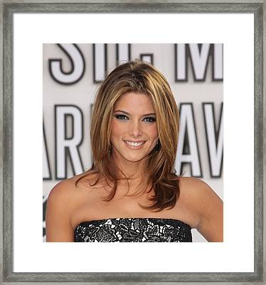 Ashley Greene At Arrivals For 2010 Mtv Framed Print by Everett