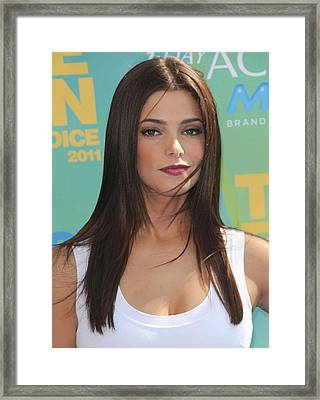 Ashley Greene At Arrivals For 2011 Teen Framed Print