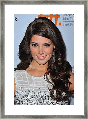 Ashley Greene At Arrivals For Butter Framed Print