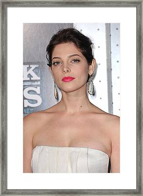 Ashley Greene At Arrivals For Sherlock Framed Print by Everett