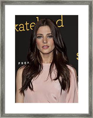 Ashley Greene At Arrivals For Skateland Framed Print by Everett