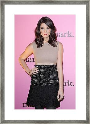 Ashley Greene Wearing A Giambattista Framed Print by Everett