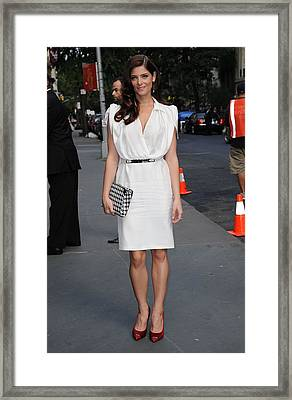 Ashley Greene Wearing A Salvatore Framed Print