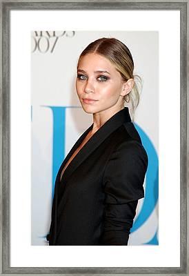 Ashley Olsen At Arrivals For The 25th Framed Print