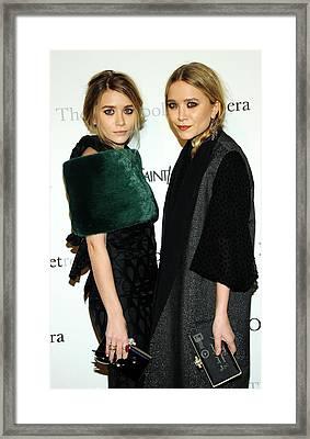 Ashley Olsen, Mary-kate Olsen Both Framed Print by Everett