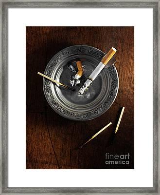 Ashtray Framed Print by Carlos Caetano