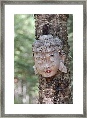 Asian Angel Mask Framed Print by Peg Toliver